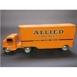 Tonka Style Allied Van Line Tractor and Van- 22.5 L X 5.5 W X8.5 H
