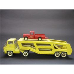 "Tonka Car Hauler with Tonka Jeep- 27""L X 5.25""W X 7'H"