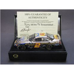 Signed Rusty Wallace Elite Platinum 2004 Intrepid Elite Stock Car- 1984 Rookie of the Year- 1989 Nas