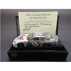 "Signed Dale Earnhardt Jr Elite Platinum 2004 Monte Carlo Stock Car- 1/300- 8.5""L X 3""W X 2.25""H"