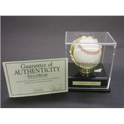 Signed Dale Jr Baseball- 1/8- Letter of Authenticity