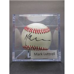 Signed Mark Luttrell Baseball