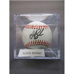 Signed Justin Bieber Baseball