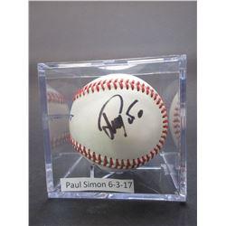 Signed Paul Simon 6-3-17 Baseball