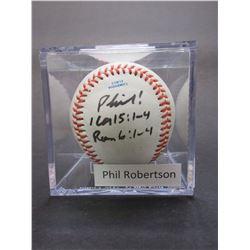 Signed Phil Robertson Baseball