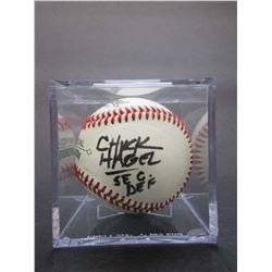 Signed Chuck Hagel Sec Def Baseball