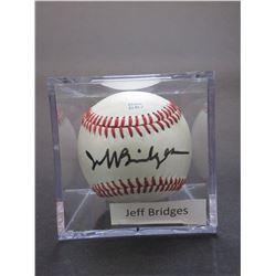 Signed Jeff Bridges Baseball