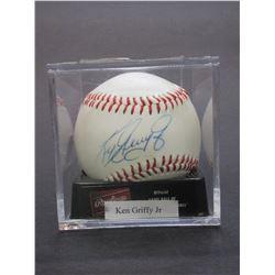 Signed Ken Griffy Jr Baseball