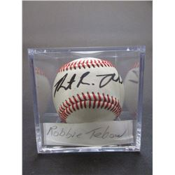 Signed Robbie Tebow Baseball- Letter of Authenticity