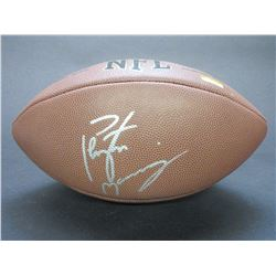 Signed Peyton Manning Wilson NFL- Letter of Authenticity