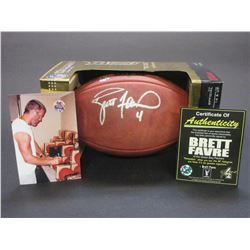 Signed Brett Favre NFL Authentic Game Ball- Certificate of Authenticity
