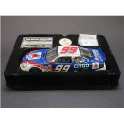 """Signed Jeff Burton Team Caliber Owners Bank Stock Car- 2002 Limited Edition- 8.5""""L X 3""""W X 2.25""""H"""