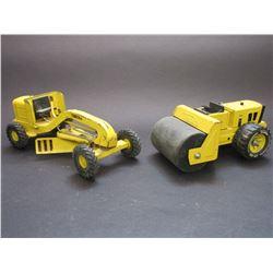 """Small Tonka Road Grader- 10.5""""L X 4.5""""W X 4""""H-  Small Tonka Roller- 8""""L X 4.5""""W X 3.5""""H"""