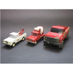 Small Tonka Tow Truck- Small Tonka Cement Truck- Large Tonka Pick up