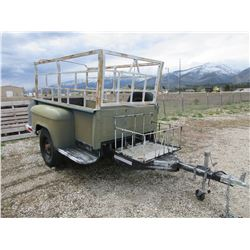 Chevrolet Pickup Bed Trailer- Racks- Basket- Good Rubber- Montana Title