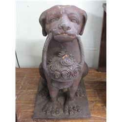 "Cast Iron Dog- 21""H X 11.5""W X 14""D"