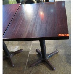Rectangle Wood Top Pedestal Table