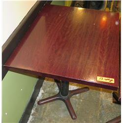 Rectangle Wood Top Pedestal Table (24x30x30H)