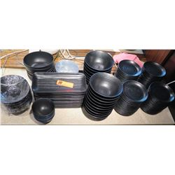 Misc Black Ramen Bowls, Side Plates, Serving Trays, etc