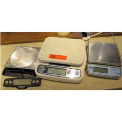Qty 3 Kitchen Food Weight Scales - Edlund, Oxo w/ Pull Out Display