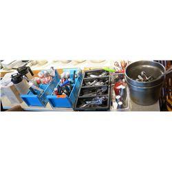 Misc Utensils, Metal Ramekins, Scissors, Clear Thermos, Scoops, etc