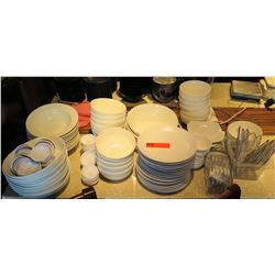 Multiple White Dishes - Plates, Bowls, Side Plates, Condiment Dish, etc
