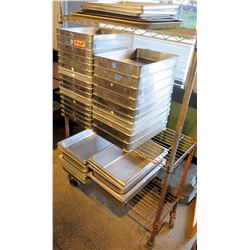 Rolling Metal Cart & Multiple Steel Cooling Sheets & Baking Pans