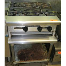 "American Range Gas 4 Burner Countertop Hot Plate on Stand 24""W x 30""D x 10.5""H"