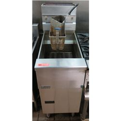 "Pitco Stainless Steel Floor Fryer & Baskets 16""W x 34""D x 34.5"" Front Ht."