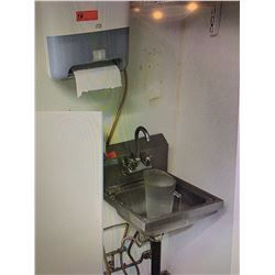 Wall Mount Sink w/ w/ SCA Paper Towel Dispenser & 2 EcoLab Soap