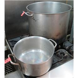Qty 2 Large Commercial Stock Pots