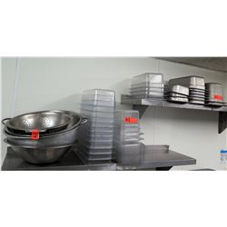 Multiple Size Plastic & Metal Food  Containers & Colanders