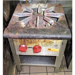 "Natural Gas Single Burner Stock Pot Range 18""W x 21""D x 24""H"