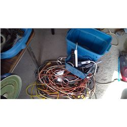 Tub of Electrical Cords