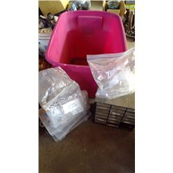 Tub of Bolt Bin and Containers