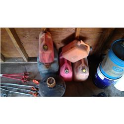 6 Assorted Gas Cans