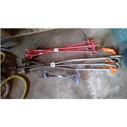 "12 Tie Down Anchors 16"", 30"", 44"""