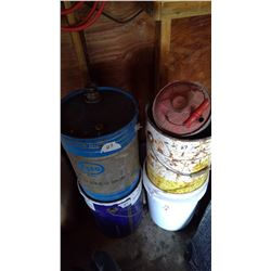 Lot of Misc. Gas and Oil Pails
