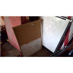 Whiteboard - Folding and Corkboard