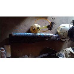 Weed Siphoning Pump, Roll of Polly for Landscaping and Roll of Flowerbed Fabric