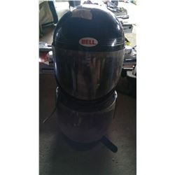 "2 - Black Helmets, 7 3/8 - Bells and Curves Double XL 8"""