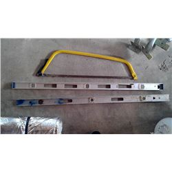 2x 4' Aluminum Level and Swede Saw