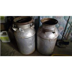 2x 8 Gallon Cream Cans w/ Lid