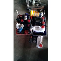 Lot of Oils and Cleaners