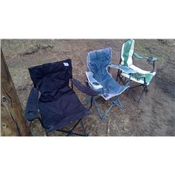 Lot of Camping Chairs x3