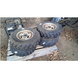 4 Quad Tires (Two 25X8-12 and Two 25X10XR)