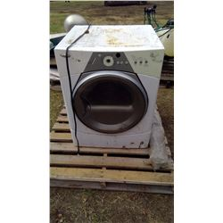 Electric Dryer and Metal Bed c/w Rails
