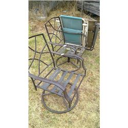 Lot of 4 Lawn Chairs