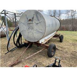Water Tank - 1000 Gallon - On Rubber Tire Wagon