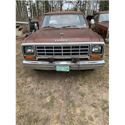 1983 - Dodge D100 4 Speed - Salvage